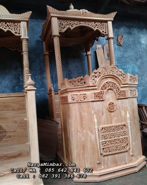 Jual Mimbar Masjid Podium Jepara Ukiran