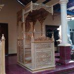 Mimbar Masjid Kayu Jati Ukiran