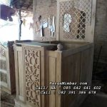 Mimbar Masjid Minimalis Kayu Jati Jepara