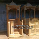 Mimbar Masjid Podium Minimalis Jati Jepara