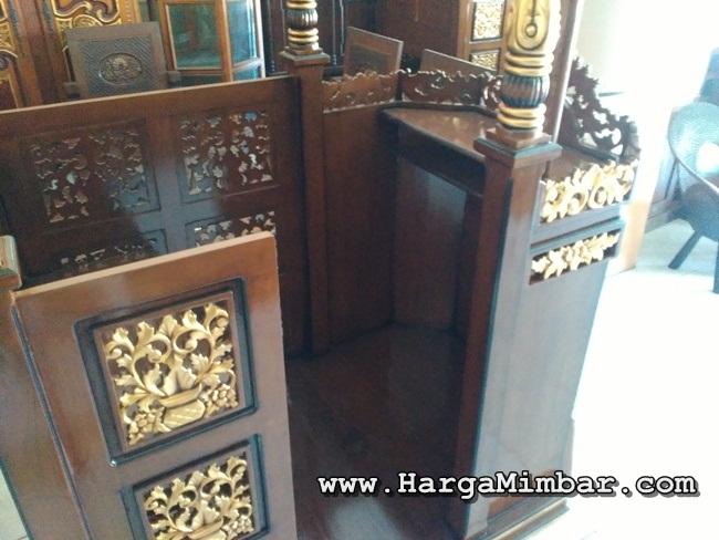 Mimbar Masjid Podium Kubah Ukiran Jepara HM-024