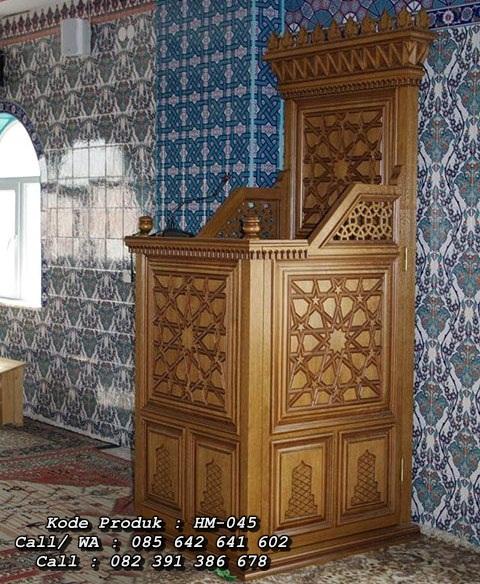 Mimbar Masjid Kayu Jati Jepara Unik