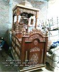 Mimbar Masjid Kubah Jati Ukiran Jepara