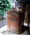 Mimbar Masjid Ukiran Minimalis Jati