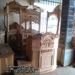 Model Mimbar Masjid Ukiran Kayu Jati