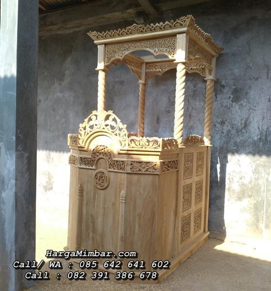 Mimbar Masjid Jepara Ukiran Jati Terlaris