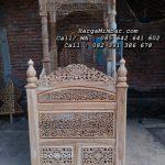 Mimbar Masjid Ukir Jati Kaligrafi Jepara