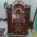 Podium Mimbar Masjid Murah Kayu Jati