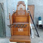 Mimbar Podium Masjid Sederhana Ukir Jepara