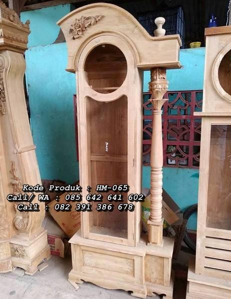 Jam Hias Kayu Jati Model Minimalis