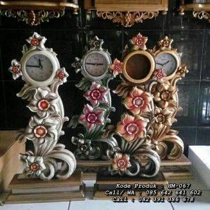 Jam Hiasan Mini Ukiran Bunga Jepara