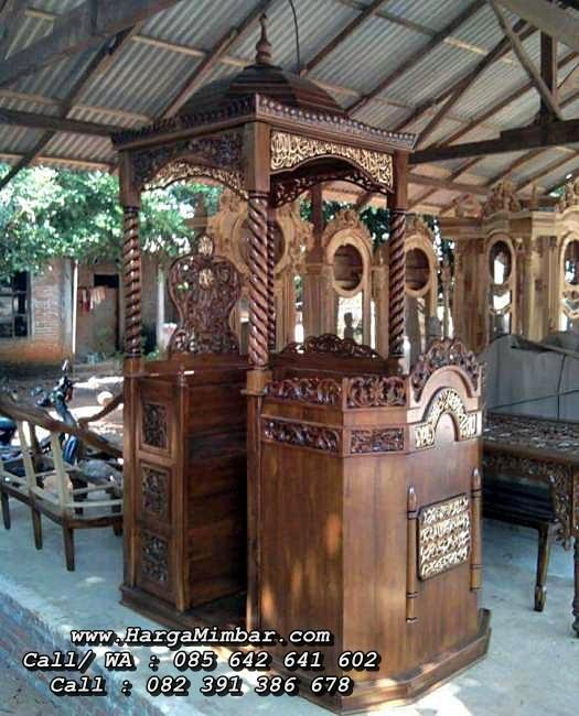 Jual Mimbar Masjid Ukiran Kayu Jati