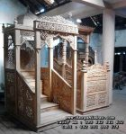 Mimbar Masjid Ukir Jepara Jati Mewah