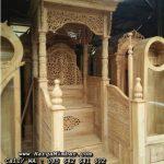 Mimbar Masjid Ukiran Jati Jepara