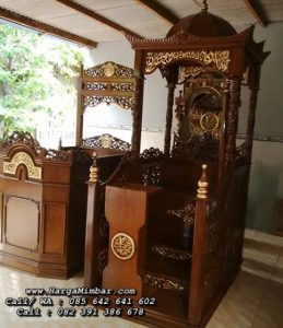 Model Mimbar Masjid Jepara Kayu Jati