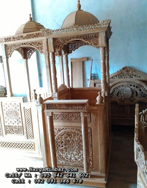 Mimbar Masjid Ukir Jepara Minimalis Kayu Jati