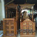 Model Mimbar Masjid Jepara Kubah Murah