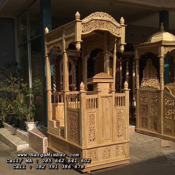 Model Mimbar Masjid Ukiran Minimalis Jati