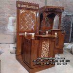 Model Mimbar Masjid Minimalis Jati Jepara