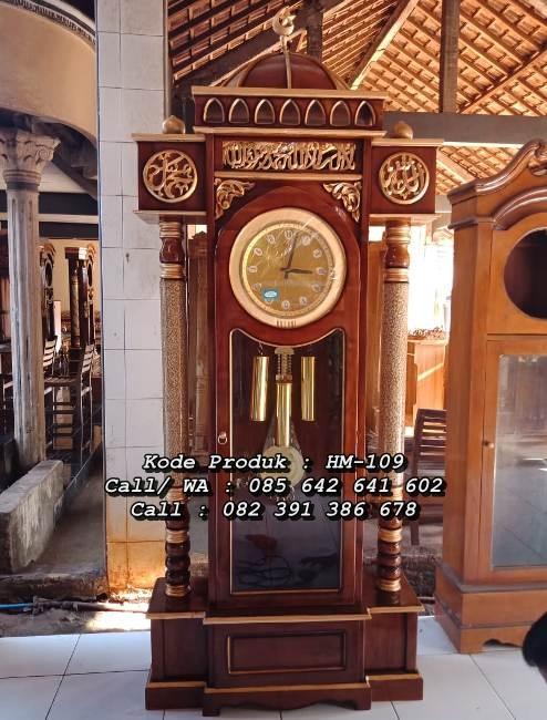 Lemari Jam Hias Jati Model Kubah Masjid