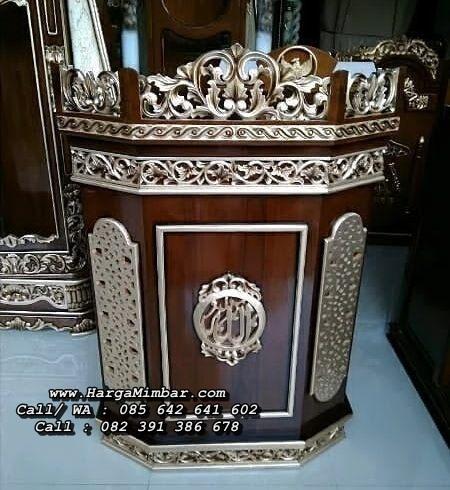 Podium Khutbah Mimbar Masjid Ukir Jepara