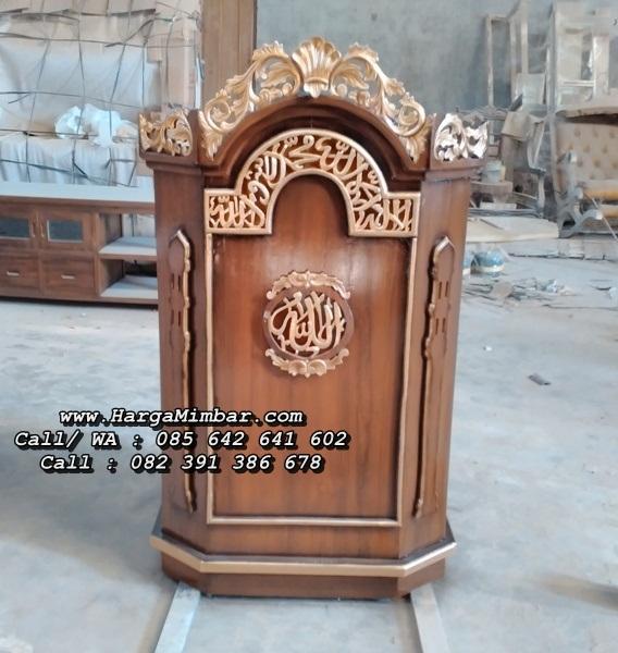 Podium Mimbar Masjid Minimalis Kaligrafi