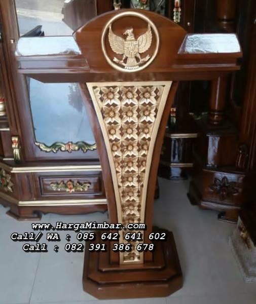 Podium Pidato Lambang Garuda Kayu Jati