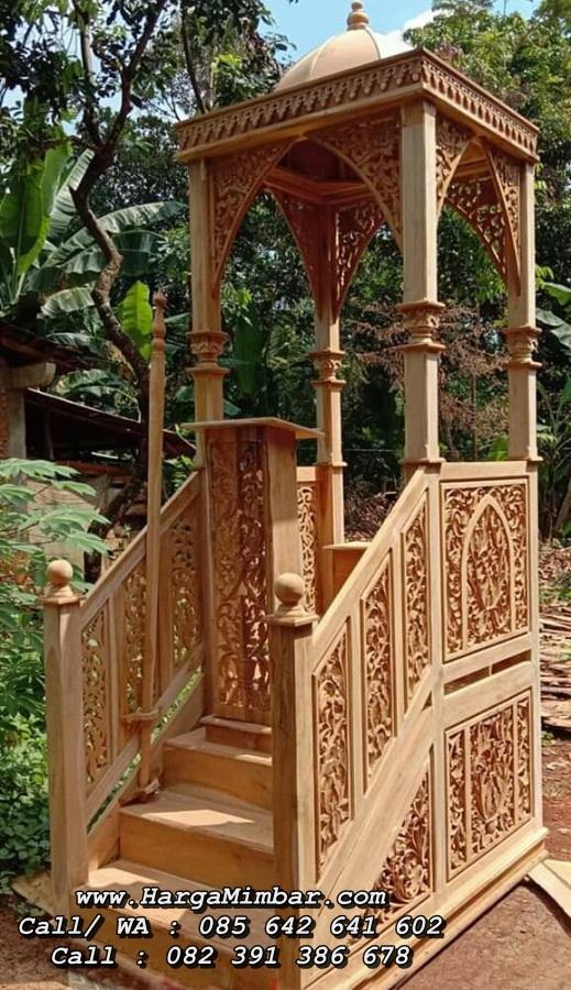 Desain Mimbar Masjid Minimalis Ukiran Jepara