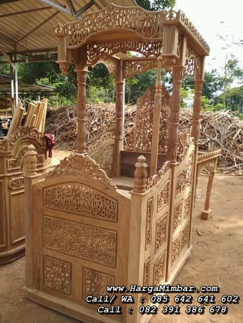 Mimbar Masjid Ukir Kayu Jati Jepara