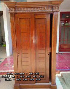 Lemari Pakaian Kayu Minimalis 2 Pintu