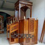 Mimbar Masjid Jumbo Minimalis Tangga Samping