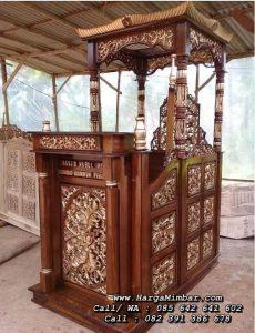 Mimbar Masjid Kayu Jati Ukiran Jepara