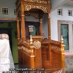 Mimbar Masjid Minimalis Modern Ukir Jepara