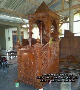 Mimbar Masjid Minimalis Ukir Jepara