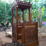 Mimbar Masjid Minimalis Ukiran Jati