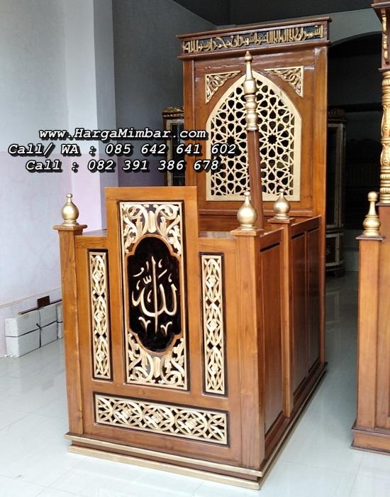 Mimbar Masjid Podium Minimalis Ukir Terbaru