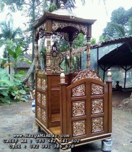 Mimbar Masjid Ukir Jepara Pintu Samping