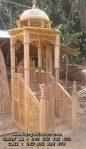 Model Mimbar Masjid Nabawi Kubah Ukir Jepara