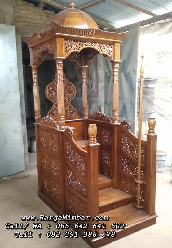 Model Mimbar Masjid Ukir Kubah Terbaru