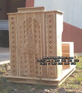 Model Podium Minimalis Masjid Kayu Jati