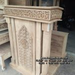 Podium Masjid Minimalis Ukiran Kaligrafi