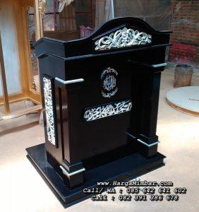 Podium Minimalis Mimbar Masjid Ukir Jepara