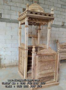 Model Mimbar Masjid Minimalis Kayu Jati
